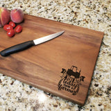 "If You Ate Today Thank a Farmer - Walnut Cutting Board (11"" x 16"") - Hailey Home"