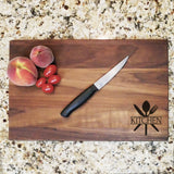 "Kitchen Utencils - Engraved Walnut Cutting Board (11"" x 16"") - Hailey Home"