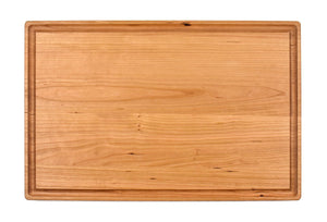 "Large Cherry Cutting Board With Juice Groove (11"" x 17"") - Hailey Home"