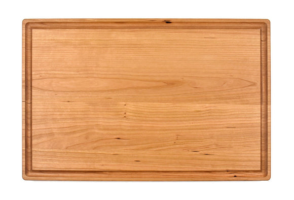Large Cherry Cutting Board With Juice Groove (11