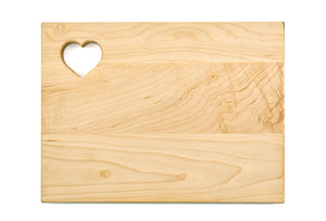 "Maple Cutting Board - Heart (9"" x 12"") - Hailey Home"