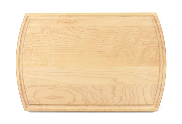 Maple Cutting Board With Arched Sides And Juice Groove (10.5