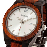 Men's Custom Ebony & Rose Wooden Watch - Hailey Home