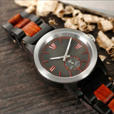 Men's Handcrafted Ebony/Rose Wood Watch - Hailey Home