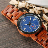 Men's Handcrafted Kosso Wooden Watch - Hailey Home