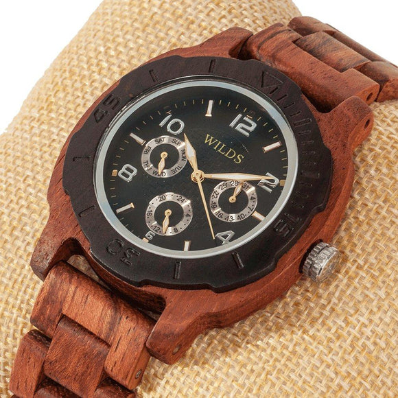 Men's Multi-Function Custom Kosso Wooden Watch - Hailey Home