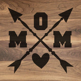 "Mom Crossed Arrows - Walnut Cutting Board (11"" x 16"") - Hailey Home"