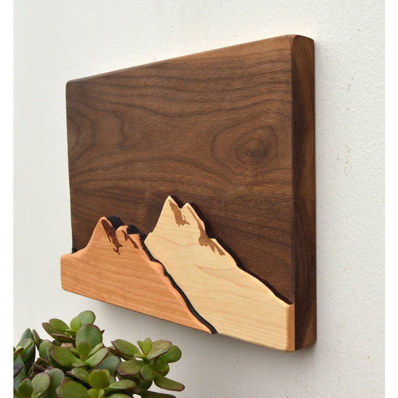 Mountain Wooden Wall Art - Hailey Home