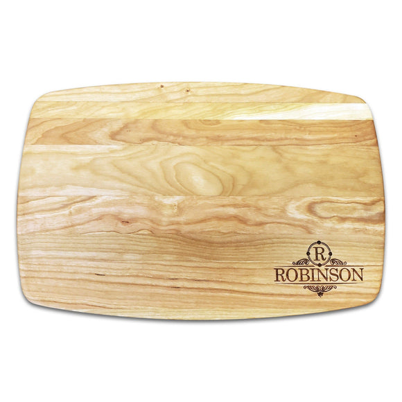 Personalized Arched Cherry Cutting Board (10.5