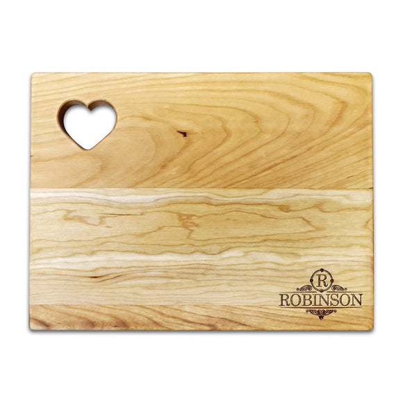 Personalized Cherry Cutting Board - Heart (9