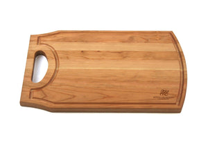 "Personalized Cherry Cutting Board With Juice Groove & Handle - 8"" x 17"" - Bulk Discounts - Hailey Home"