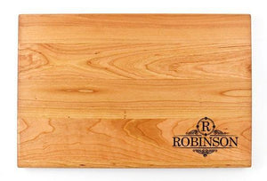 "Personalized Flat Cherry Cutting Board - 11"" x 16"" - Bulk Discounts - Hailey Home"