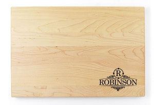 "Personalized Flat Maple Cutting Board - 11"" x 16"" - Bulk Discounts - Hailey Home"