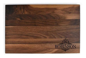 "Personalized Flat Walnut Cutting Board (11"" x 16"") - Hailey Home"
