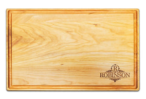 "Personalized Large Cherry Cutting Board With Juice Groove (11"" x 17"") - Hailey Home"