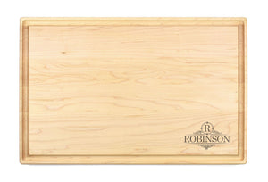 "Personalized Large Maple Cutting Board With Juice Groove (11"" x 17"") - Hailey Home"
