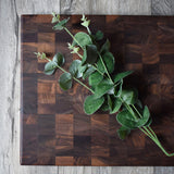 "Personalized Walnut End-Grain Chopping Block (14"" x 18"") - Hailey Home"