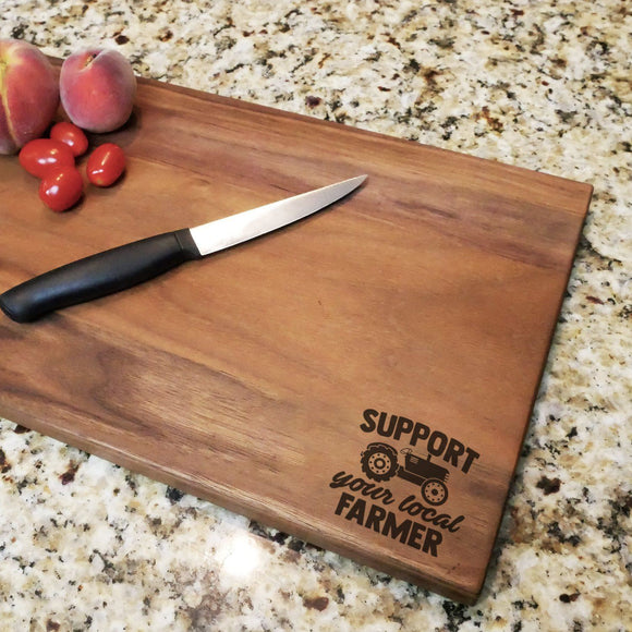 Support Your Local Farmer - Walnut Cutting Board (11