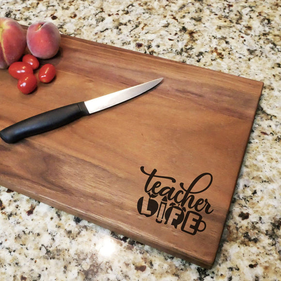 Teacher Life - Walnut Cutting Board (11