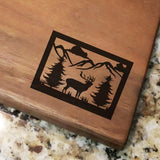 "Wildlife Scene - Engraved Walnut Cutting Board (11"" x 16"") - Hailey Home"