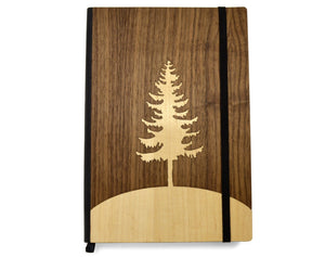 Wooden Journal - Evergreen Tree - Hailey Home
