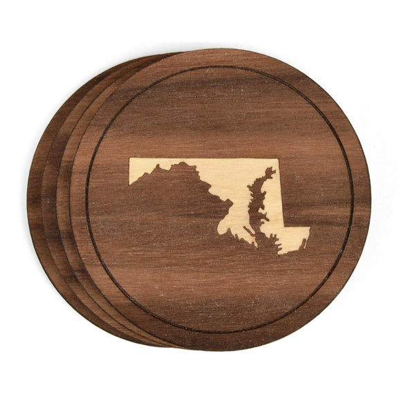 Wooden State Coasters - Choose Your State - Hailey Home