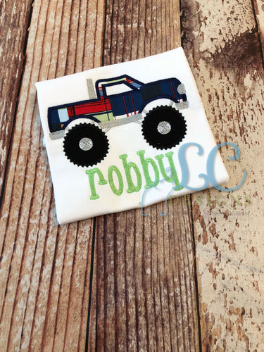 Monster Truck Applique Top