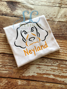 Hound Dog Embroidery Top