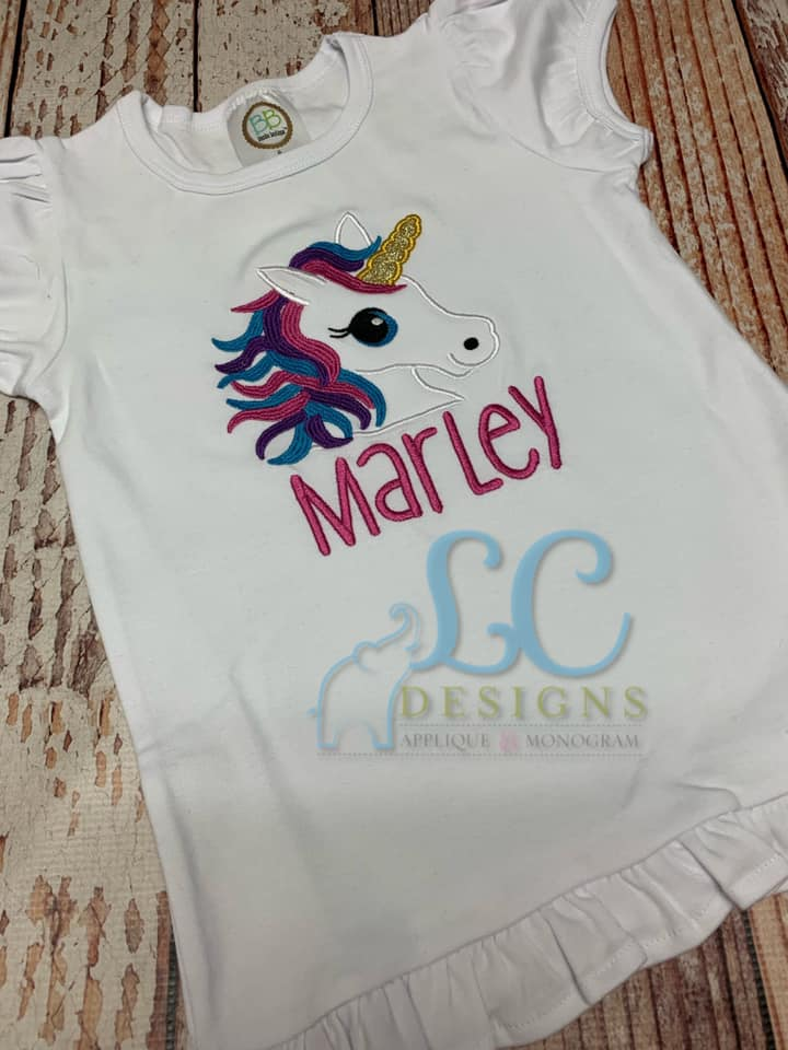 Unicorn Applique Top