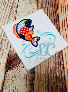 Jumping Fish Applique Top