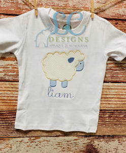 Simple Sheep Applique Top