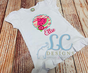 Scalloped Watermelon Applique Top