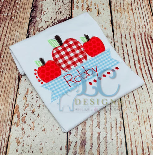 Apple Banner applique top