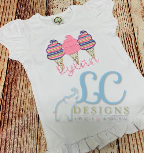 Cotton Candy Applique top