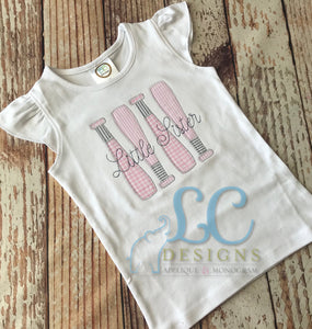 Baseball - Little Sister Applique Top