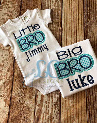 Big Bro/Little Bro Applique Top