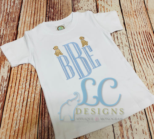Boy Puppy Monogram Tee