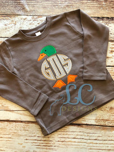 Duck Applique Monogram Applique Frame