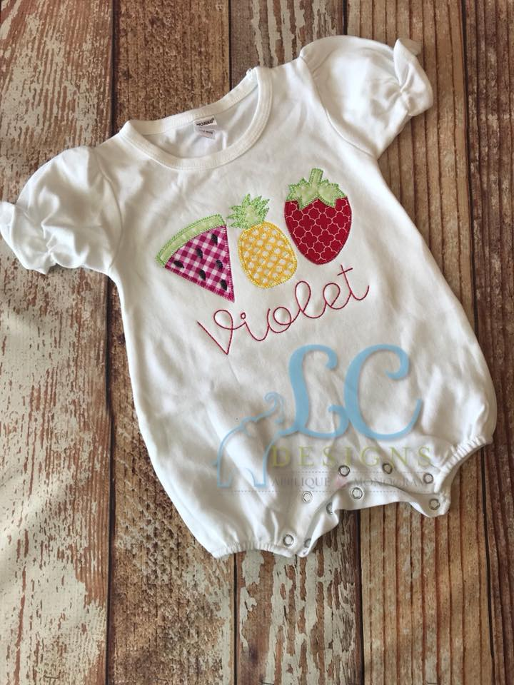 Fruit Trio Applique Top