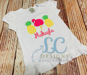 Pineapple Monogram Top
