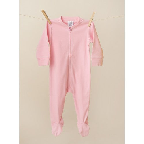 Pink Zipper Footie