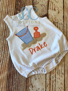 Sand Toys Applique Top