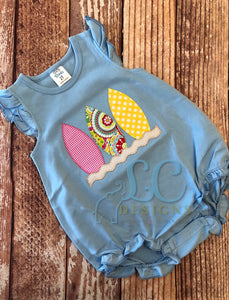 Surfboard Applique Top