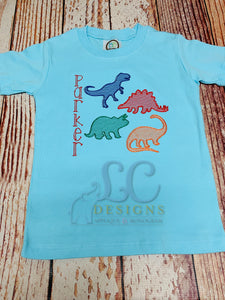 Dinosaur Embroidery Top