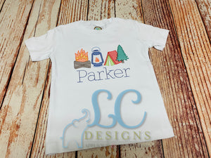 Camping Embroidery Top