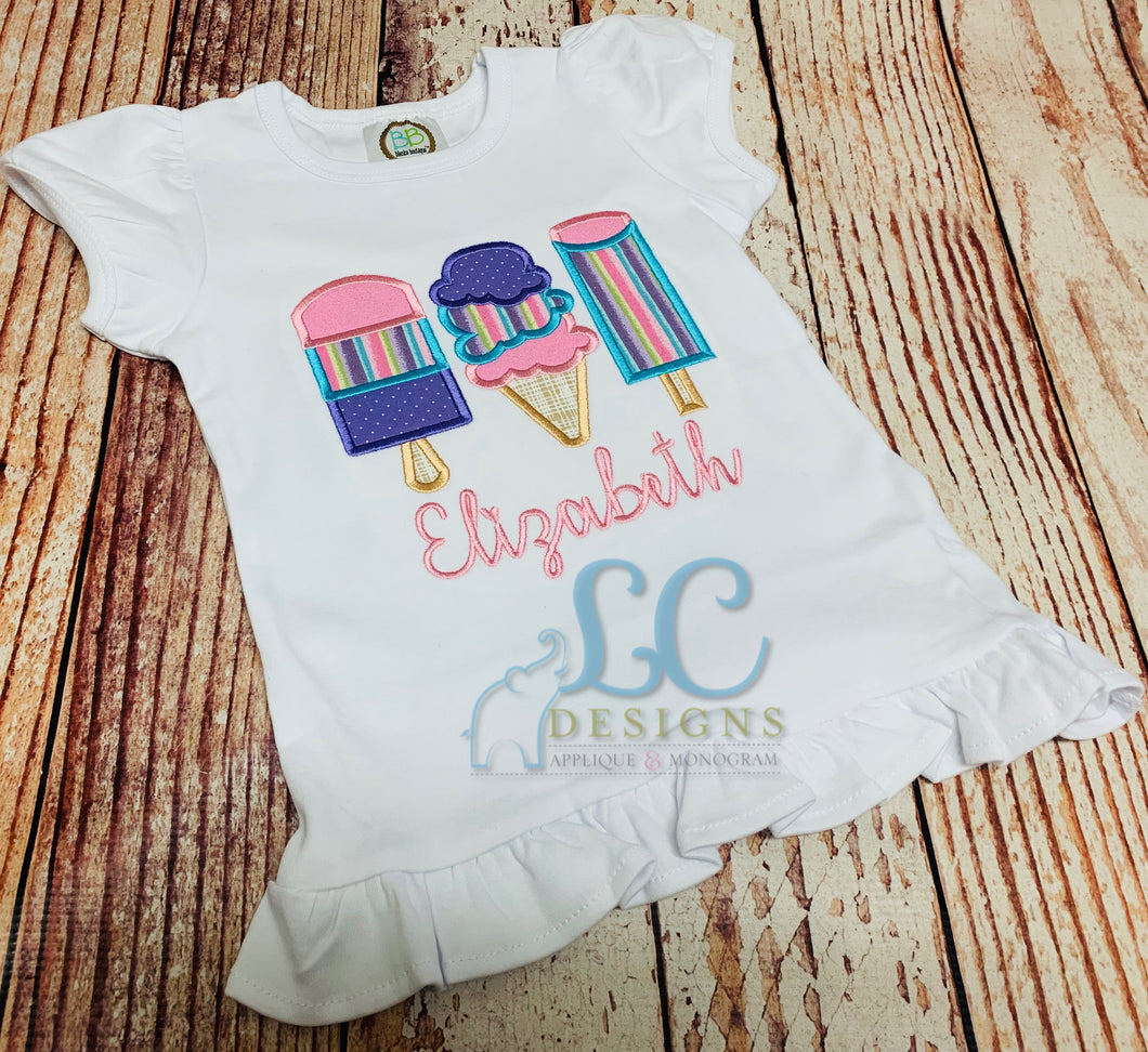 Popcicle Trio Applique Top