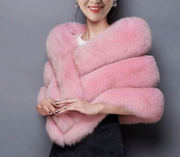 Autumn and Winter New Faux Fur Coat Shawl