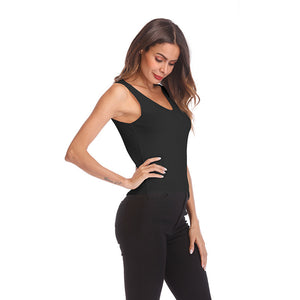 Women Solid Color V-neck knitted Camisole Top