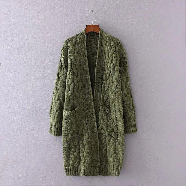 Knitted Loose Sweater Cardigan With Pockets