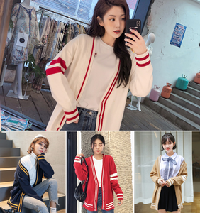 Autumn new Korean version of the loose outside cardigan sweater coat sweater women